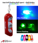 A99 Golf Flashing Ball (3pcs) + Ball Holder