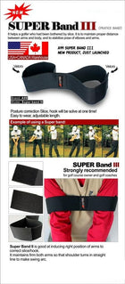 A99 Golf Super Band III Swing Practice Band Black