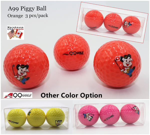 A99 Golf Cute Piggy Tournament Ball 3pcs Nice Gift for Golfer