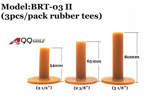A99 Golf BRT-03 II Rubber Tee Brown 3 pcs