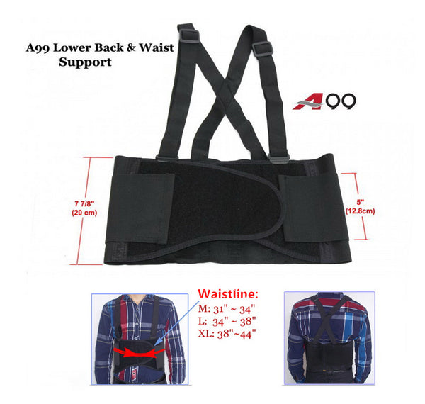 A99 Lower Back & Waist Support with Suspenders