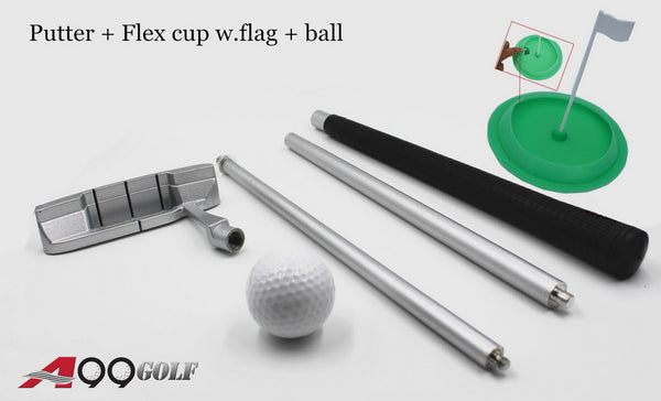 A99 Golf Practice Putter + Flex Cup