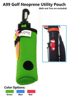 A99 Golf Utility Pouch Neoprene Golf Balls Holder Tees Accessories Bag with Clip