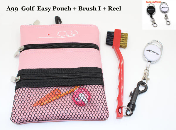 A99 Golf  Easy Pouch +  Brush I + Retractable Reel
