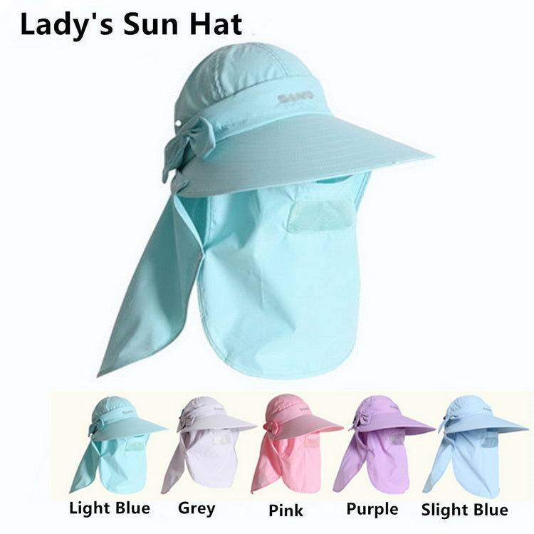 Women's Sunhat Upf+50 Bucket Hat with Neck Cover