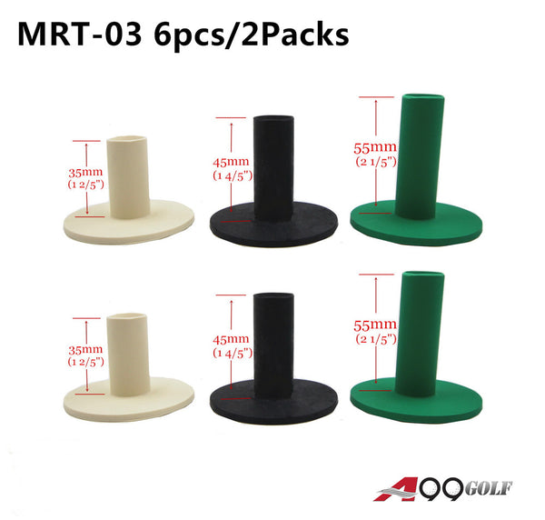 2 sets x A99 Golf Rubber Tees Mixed Color with 3 Different Size 3 pcs