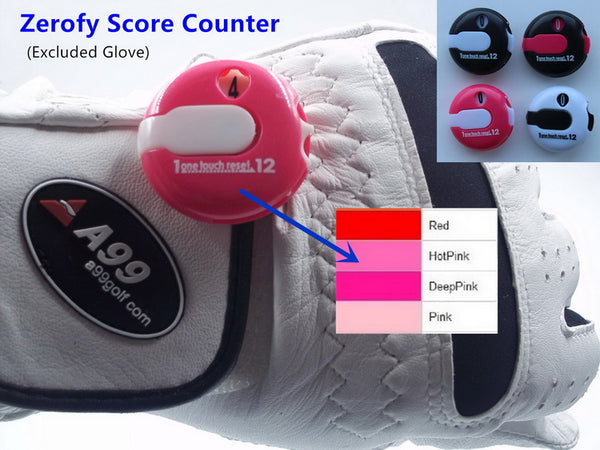 A99 Golf Zerofy Score Counter - Small Enough to Attach to Glove