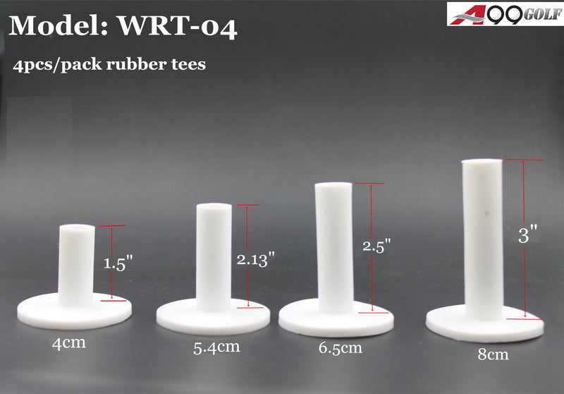 A99 Golf WRT-04 II Rubber Tee 4 Pcs with Different Size