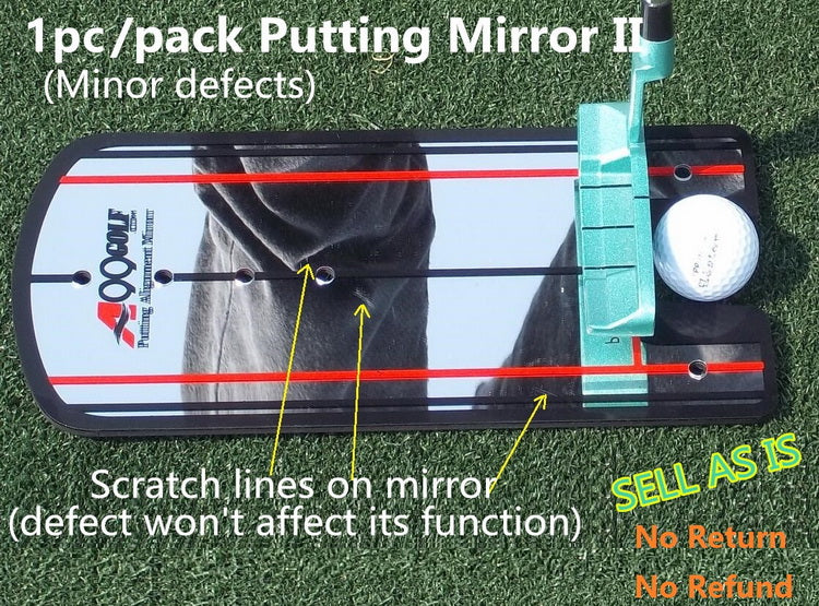 Golf Putting Mirror with Logo Sale as IS