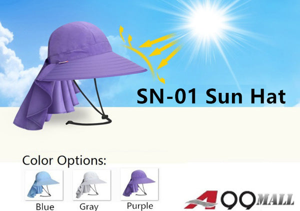 Lady Sunhat w. Large Brim Quick Drying UV Neck Protection Waterproof