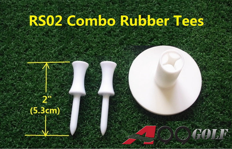 "A99 Golf RS02 Golf Rubber Tee Holders + Tees 2"" long"