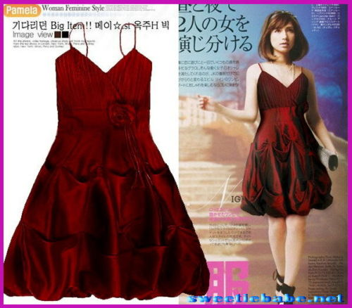 Sweeteibabe S09 Bubble Party/Cocktail/Evening Dresses Burgundy S/M/L/XL