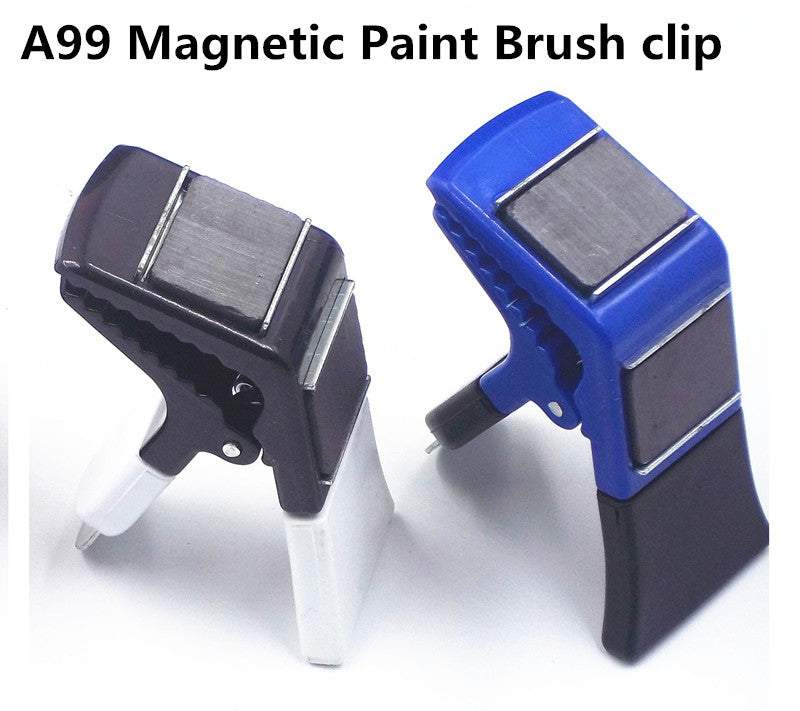 2pcs/pack Magnetic Paint Brush holder clip with Tin Opener Painiters DIY Tools Random Color