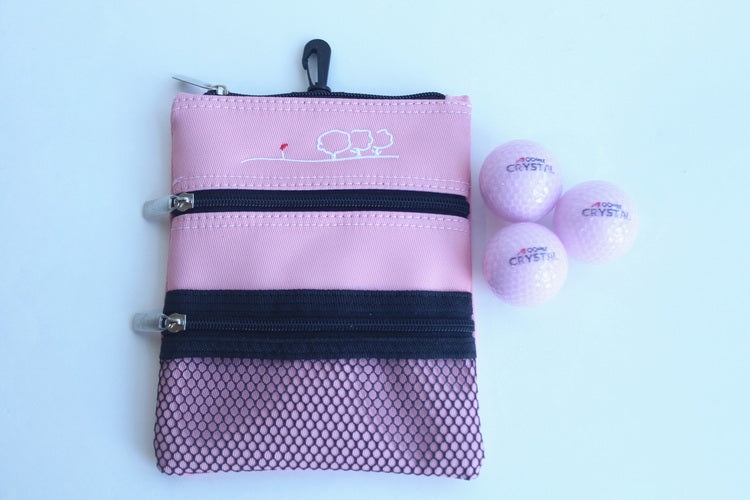 A99 Golf  Easy Pouch +  3pcs Crystal Balls Pink