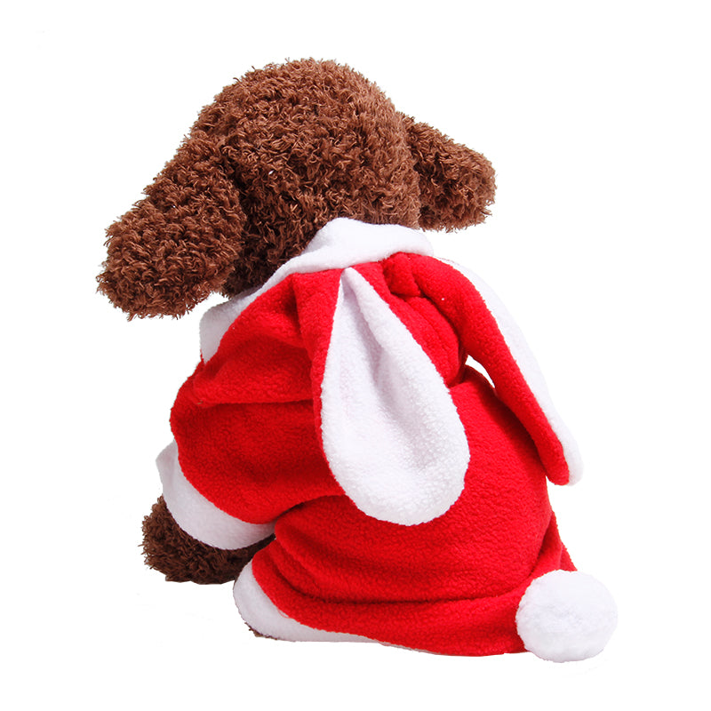A99 Small Dog Cat Christmas Santa Jumpsuit Vest Pet Clothes Costumes Warm Coat
