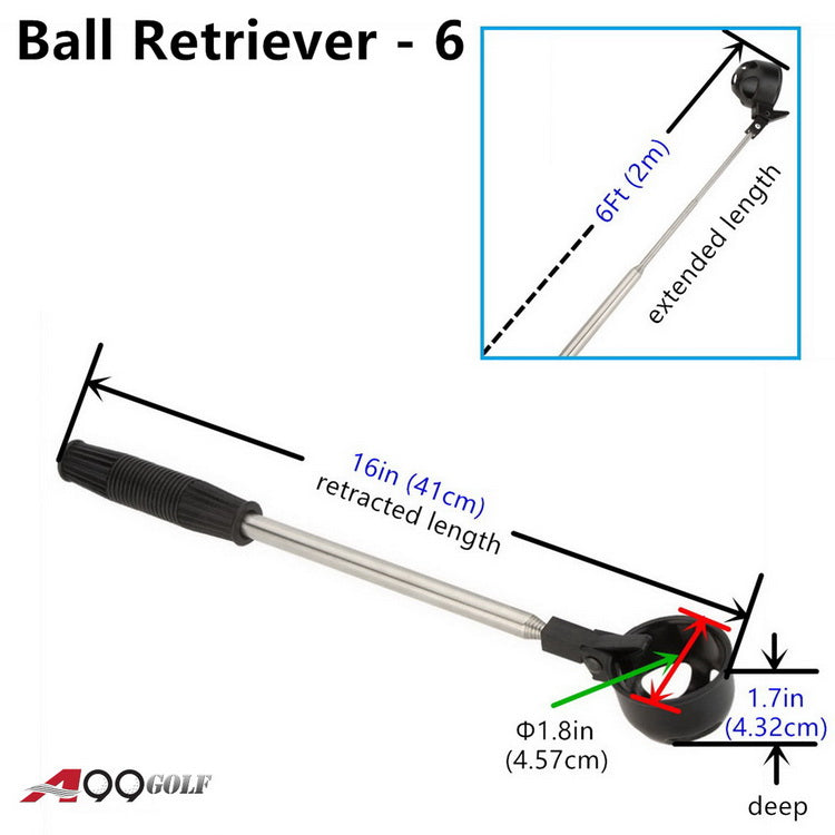 A99 Golf 6ft Telescopic Ball Retriever Pick Up