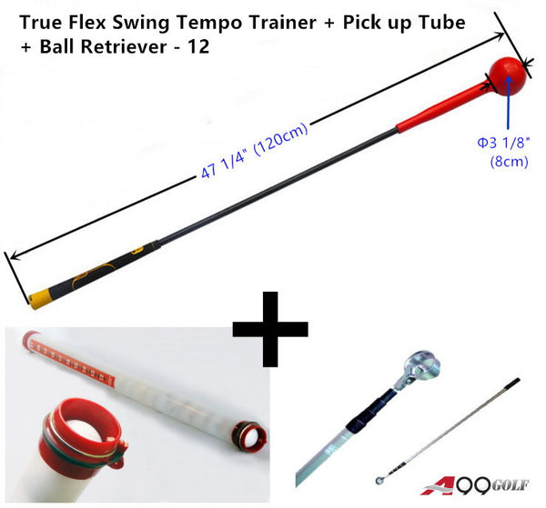 True Flex Swing Tempo Trainer + Pick up Tube + Ball Retriever