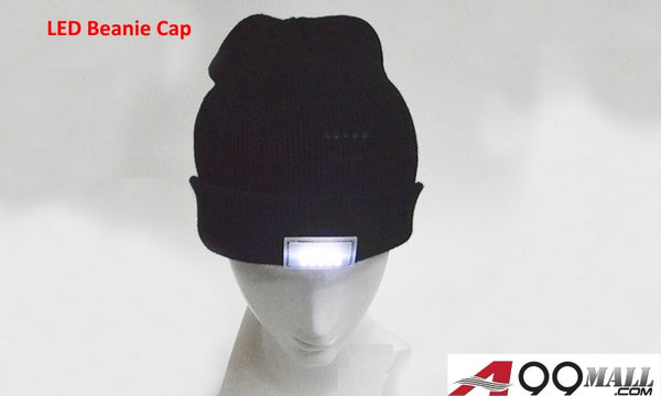A99 Knitted Warm Winter Beanie Cap with 5 Bright LED Light Unisex