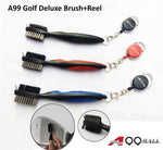 A99 Golf 1pc Deluxe Brush + Retractable Reel