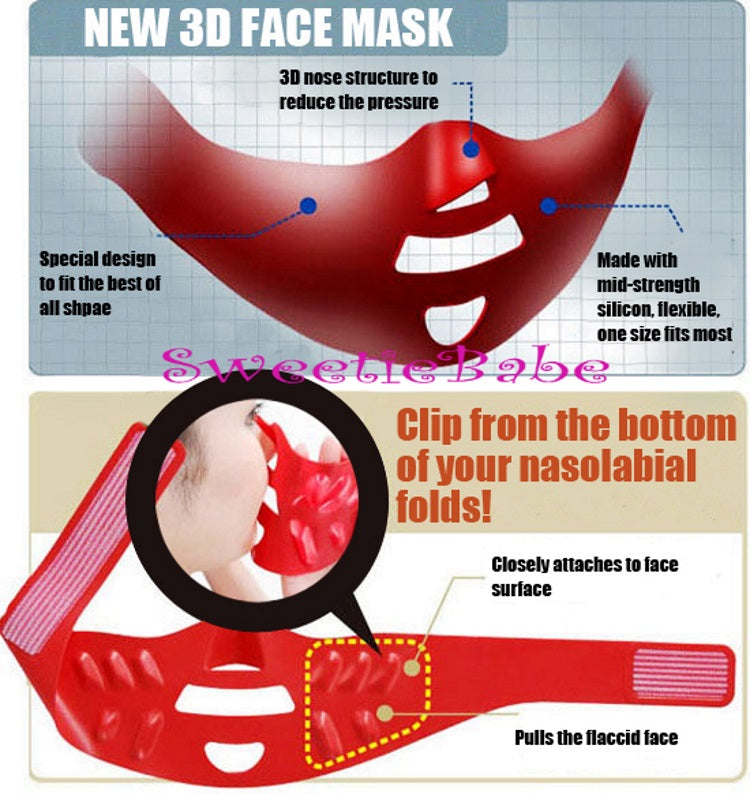 CHEEKERCISE 3D Face Mask Motto Houreisen Expander Anti-Aging Beauty Mask Face Yoga Lift