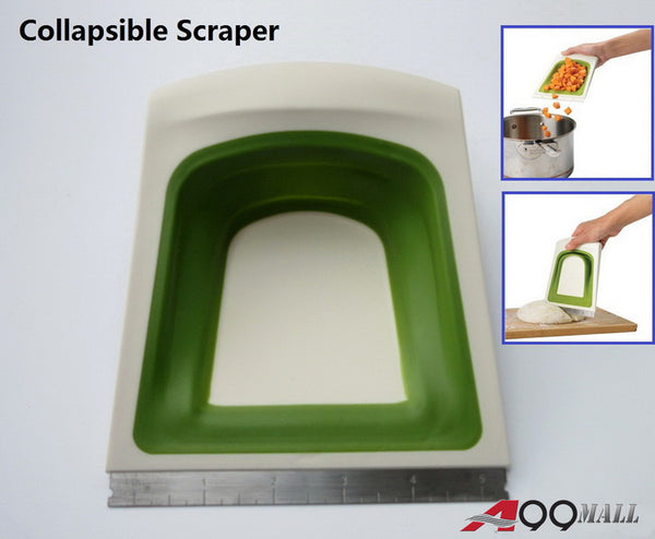 A99 Collapsible Scraper Chopper with Stainless Steel Edge