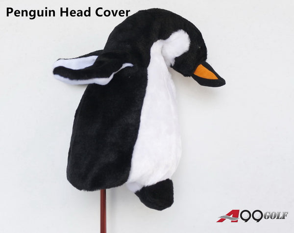 A99 Golf Cute Animal Penguin Head Cover Wood Headcover Great Gift - Fits Driver