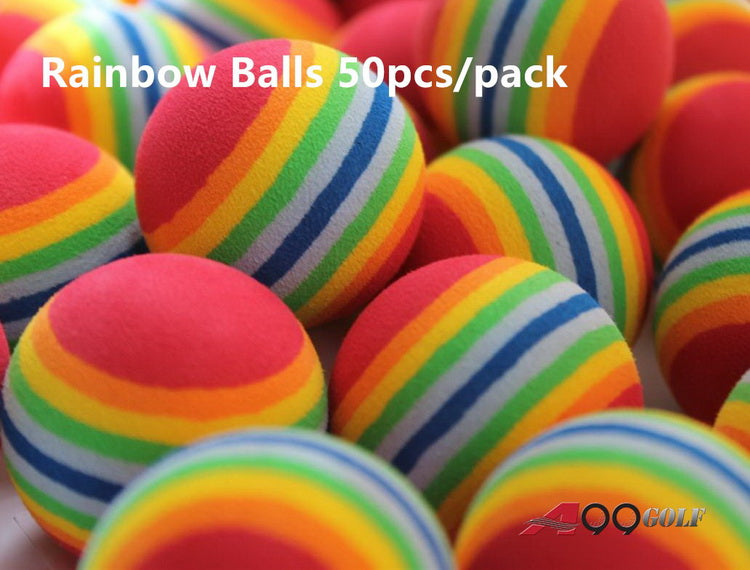 A99 Golf Rainbow  Foam Balls 50pcs