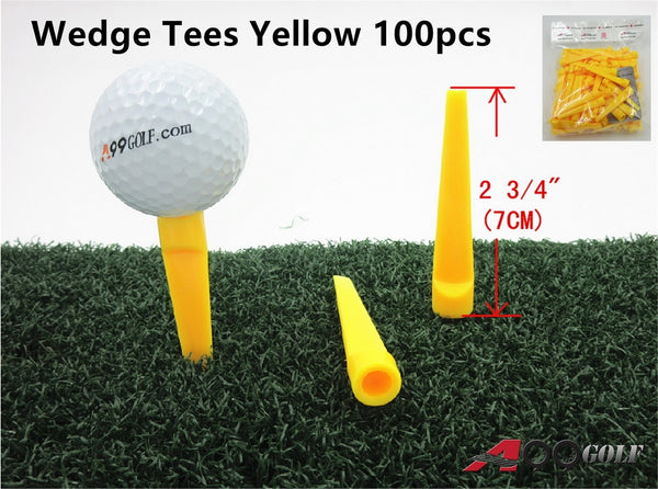 A99 Golf Wedge Tees Yellow 100pcs