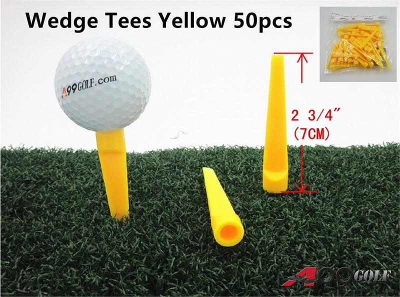 A99 Golf Wedge Tees Yellow 50pcs