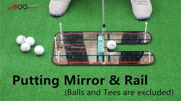 A99 Golf Putting Mirror & Rail Alignment Practice Training Aid Portable