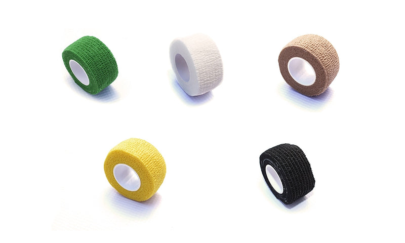 A99 1 pack/5roll Finger Guard-2.5cm Waterproof Elastic Self Adhesive Bandage Tape Finger Wrap Sports Care