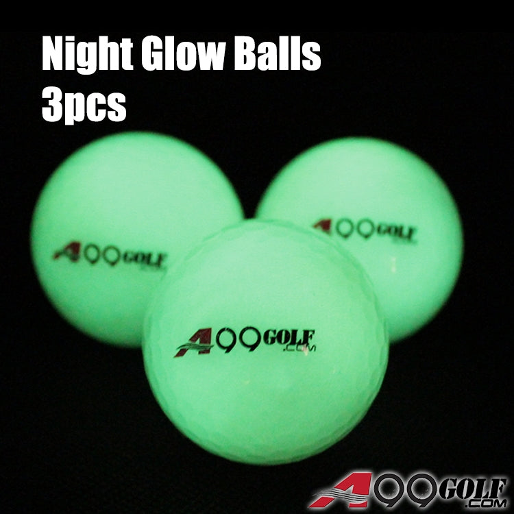 A99 Golf 3pcs Night Glow Balls Brighter Luminous Ball Automatically Absorbs Light During the Day Great Gift