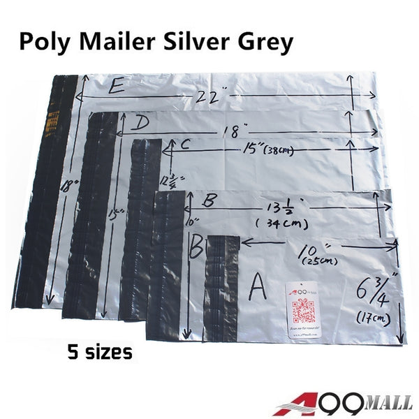 A99 Grey Poly Mailer Express Envelopes Bag 100pcs