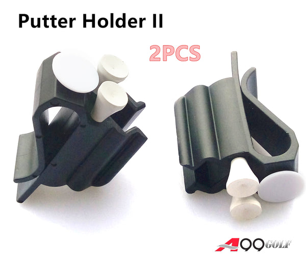 2pcs A99 Golf 3-in-1 Putter Holder Golf Bag Club Putting Organizer White Ball Marker Tee Holder