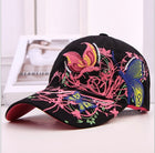 A99 Butterfly Hat Canvas Stitch Fancy Duckbill Cap