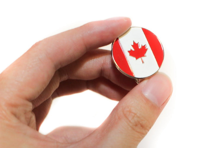 A99 Golf Canada Flag Golf Ball Marker with with Magnetic Golf Cap Clip