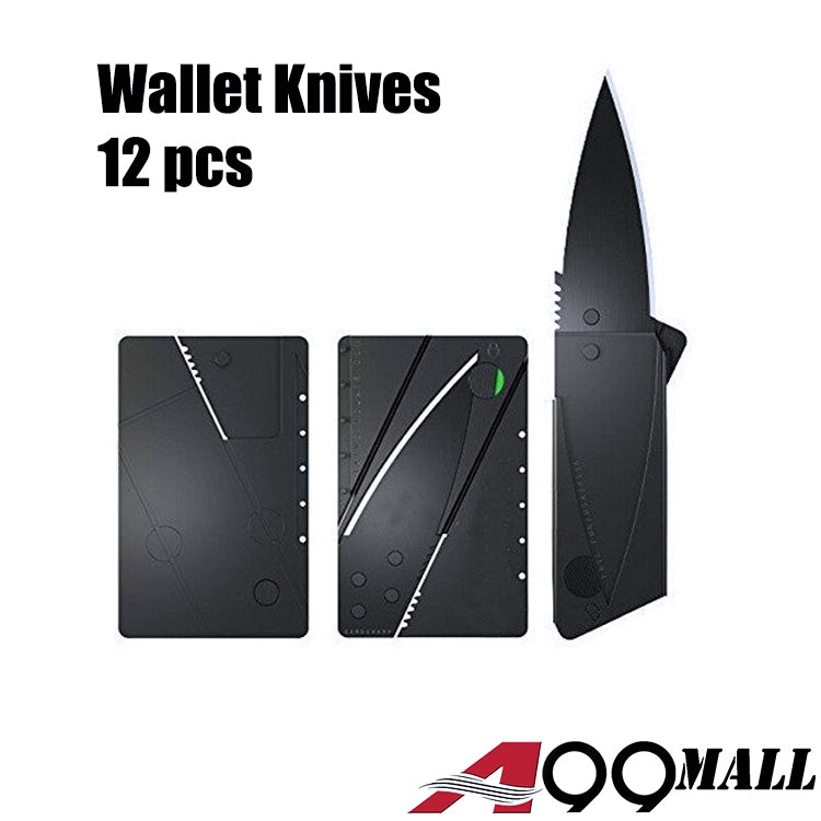 A99 Wallet knife Credit Card Knives Lot, Outdoor Safety folding, wallet thin, pocket survival micro knife 12 pcs