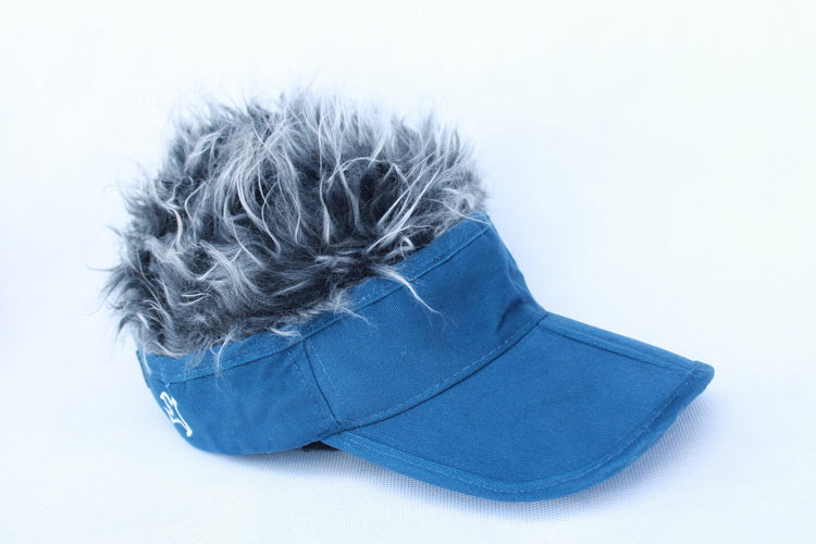 Visor with 3 removable hairs