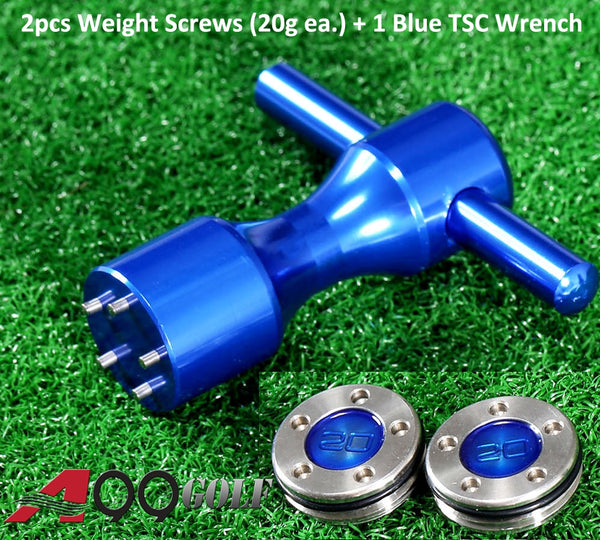 A99 Golf 2pcs Weight Screws + 1pc Blue Wrench for Titleist Scotty Cameron Putters - 20g