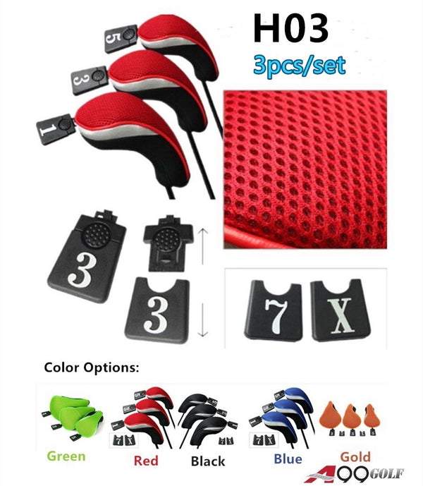 H03 Golf Wood Head Covers 3pcs/set