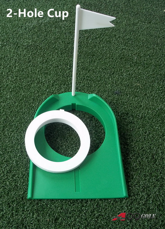 2 pcs A99 Golf 2 Hole Putting Cup