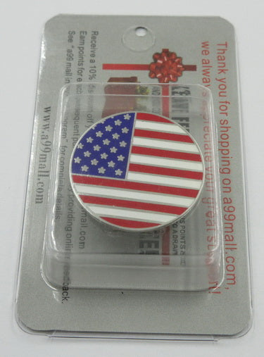 2 pcs x A99 Golf USA Flag Golf Ball Marker-N with Magnetic Golf Cap Clip
