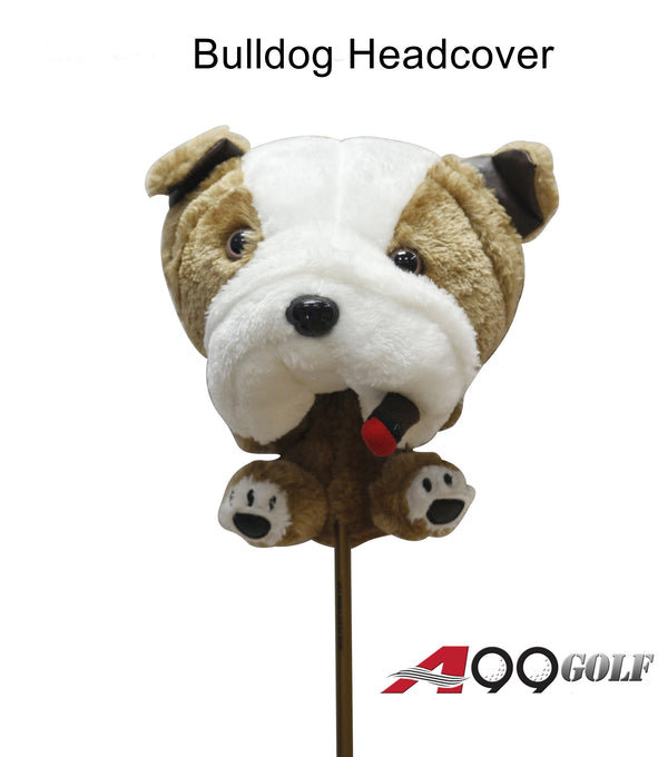 A99 Golf Cute Animal Bulldog Head Cover Wood Headcover Great Gift - Fits Fairway Wood, Hybrid