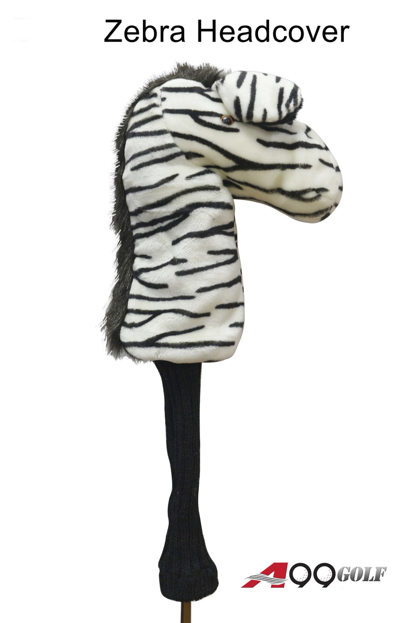 A99 Golf Cute Animal Zebra Head Cover Wood Headcover Great Gift - Fits Fairway Wood