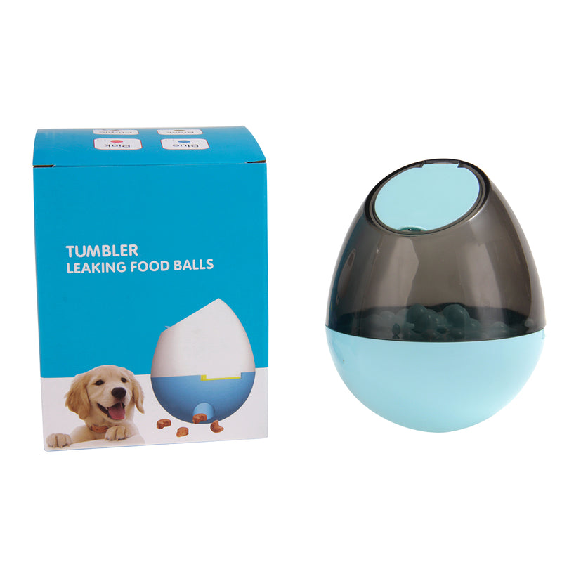 Pet Dog Cat Toy Dispenser Interactive Tumbler Puzzle Treat Ball Slow Feeder