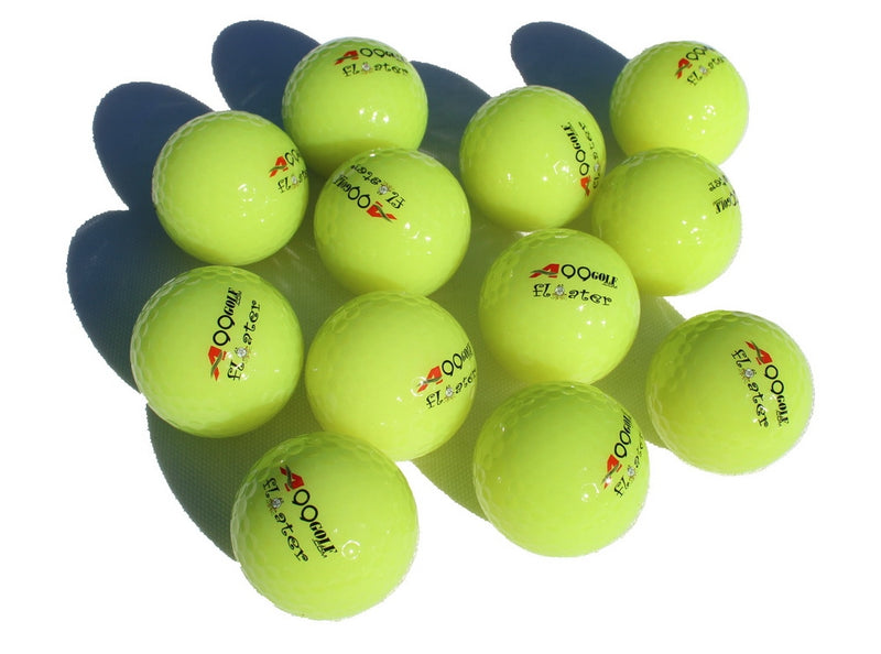 12pcs A99 Golf Floater Balls Floating Float Water Range Ball Neo Green