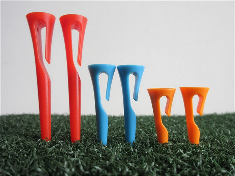 A99 Golf 6pcs Easy-carry Golf Tees Durable Plastic Golf Ball Tee Golfer Training Accessory Fit into Thin Part of Caps, Pants and Gloves (3sizes)