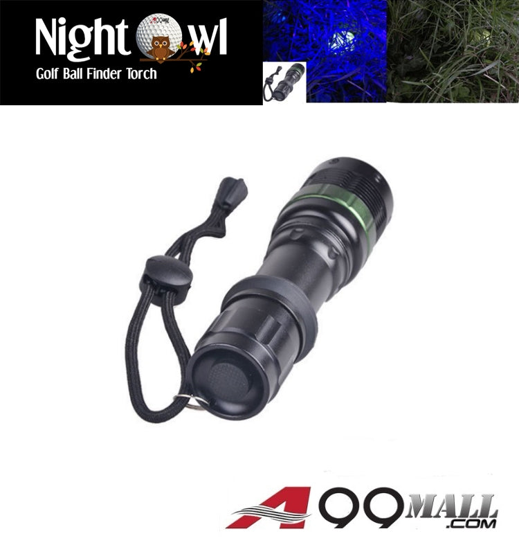 A99 NightOwl Golf Ball Finder Torch CREE LED 180 LM 395nm Ultra-Violet/Purple Light Torch