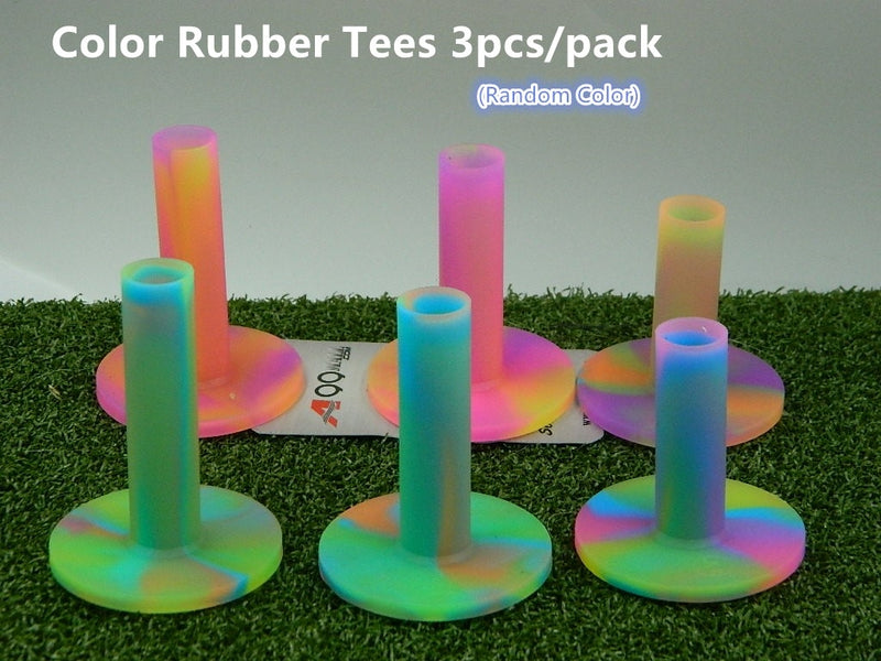 A99 Golf Color Rubber Tee with 3 Different Size - 3pcs/pack