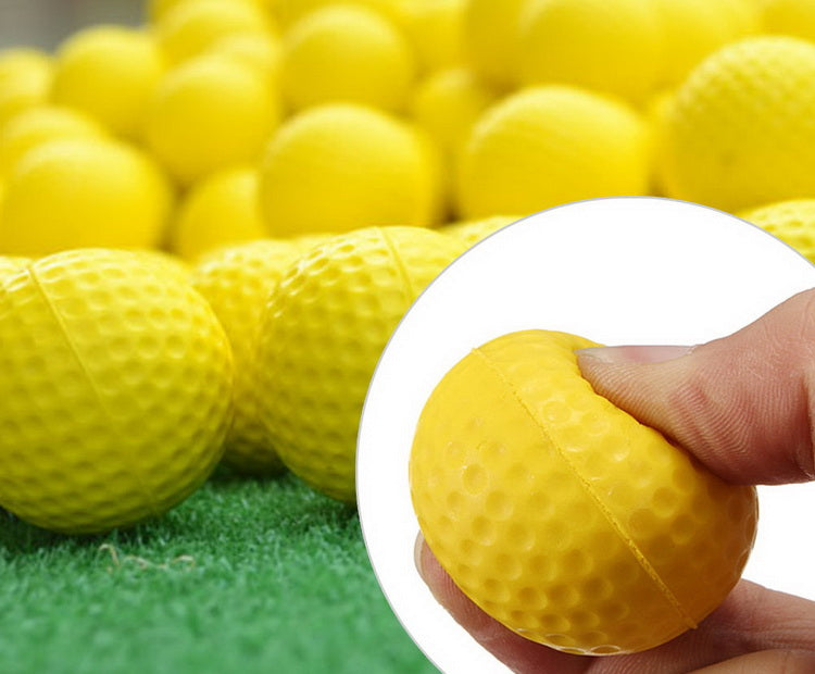 A99 Golf Elastic Practice Pu Balls Yellow 36 Pcs
